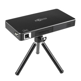 Docooler DLP Projector w/Android 4.4.4 OS 2.4G/5G /1080P Throw 120-inch Screen 4200mAh Rechargeable WiFi Bluetooth 4.0 HD USB TF