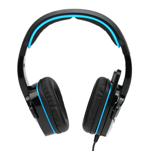 docooler SADES SA-708GT 3.5mm Gaming Headphone w/ Mic Noise Cancellation Music Headset Black-blue Upgraded Version of SA-708 for PS4 XBOX 360 Tablet PC Mobile Phones