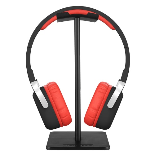 NewBee Universal Headphone Holder Portable Headset Stand TPU Material Earphone Display Rack Black Home Exhibition Center Store Use.