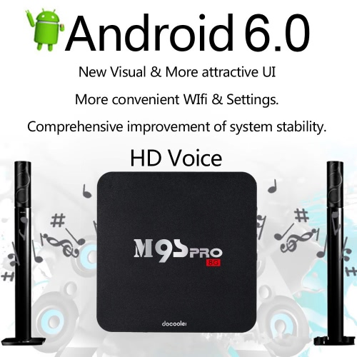 Docooler® M9S-PRO Smart Android TV Box Android 6.0 Amlogic S905X Quad Core UHD 4K 1G / 8G WiFi H.265 DLNA Miracast
